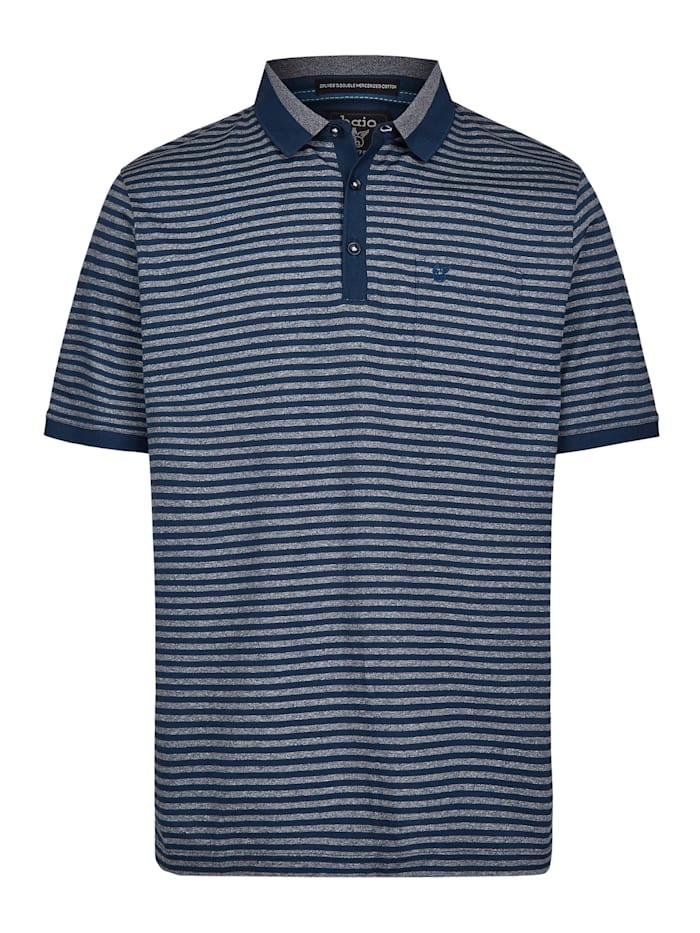 Hajo Poloshirt mit tollen Alloverringeln, admiralsblau