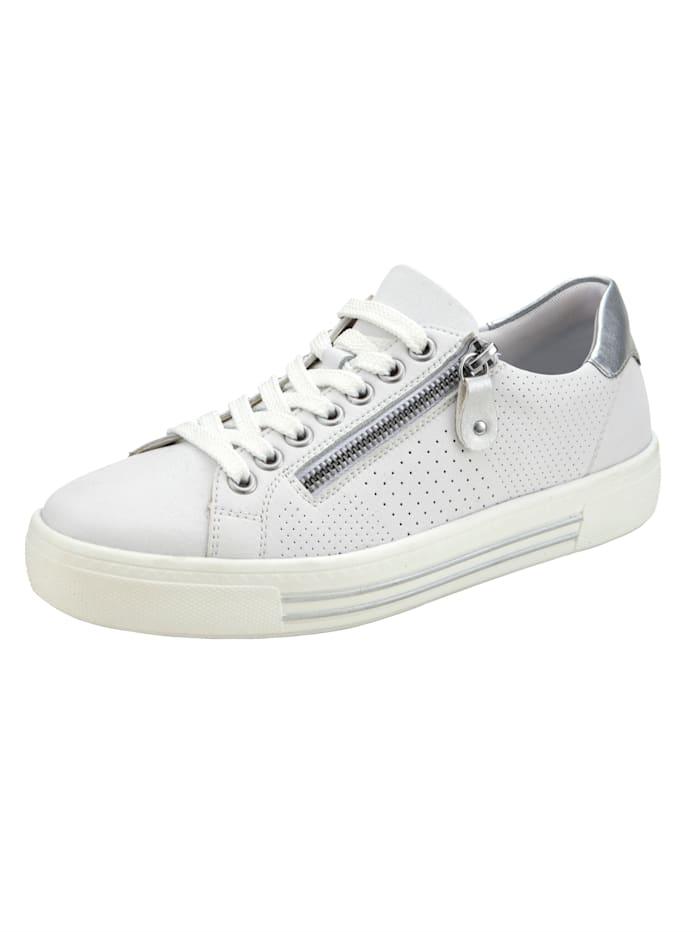 Remonte Sneaker met rits opzij, Wit