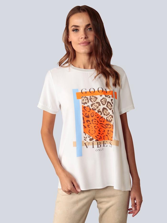 Marc Aurel T-Shirt im Materialmix, Weiß