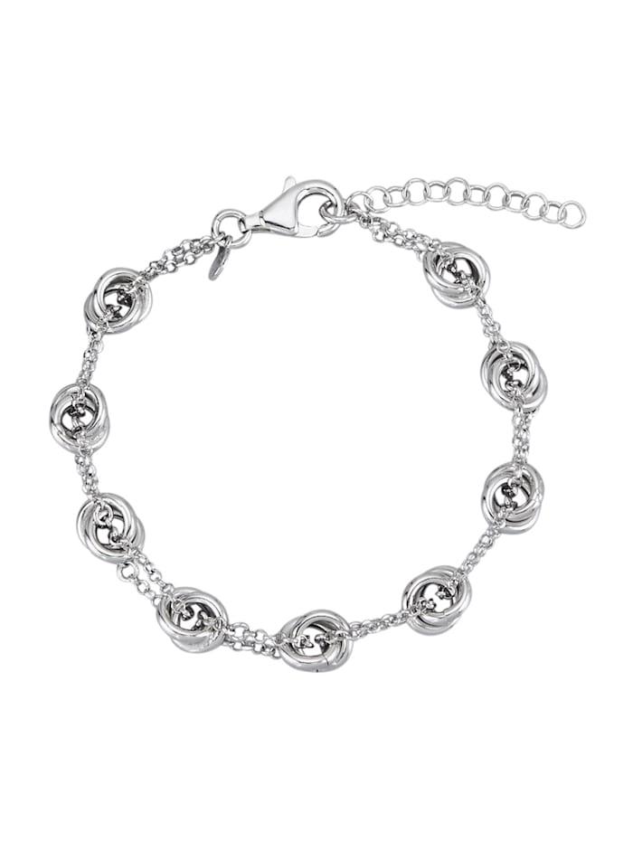 AMY VERMONT Armband, Silberfarben