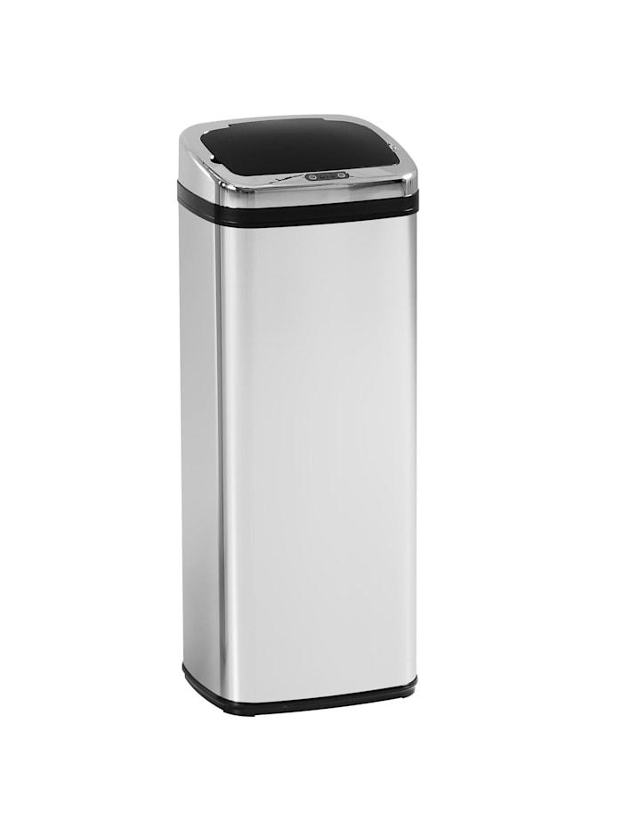 HOMCOM Automatik Mülleimer mit IR Sensor, silber