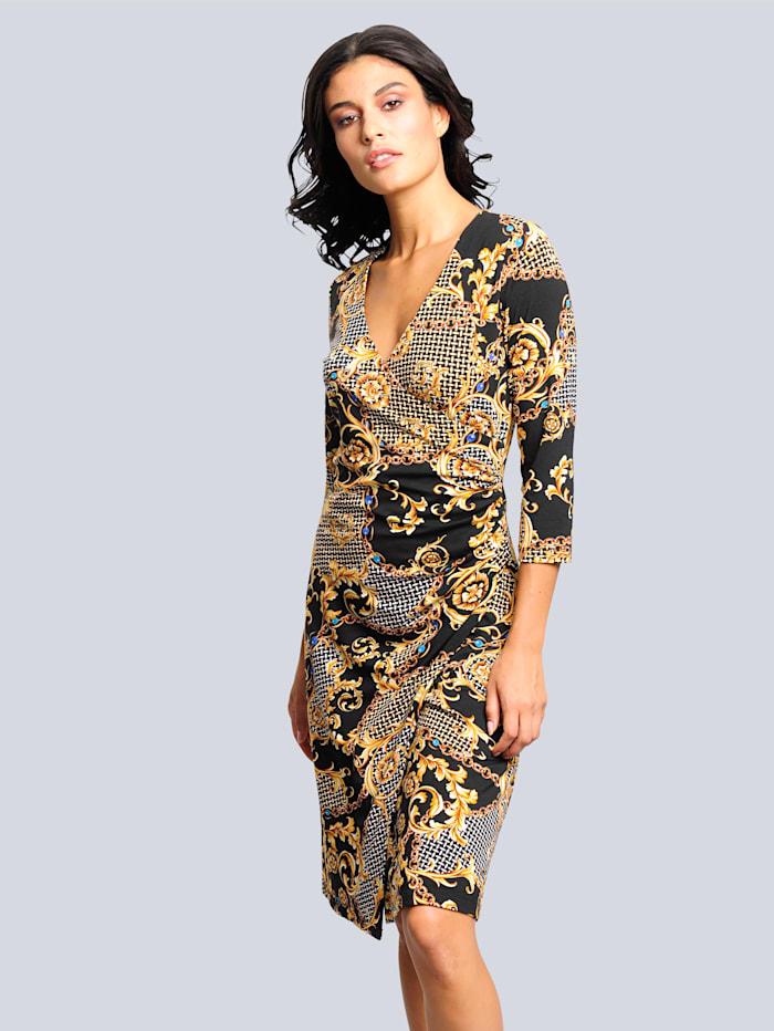 Kleid mit exklusivem Druckdessin