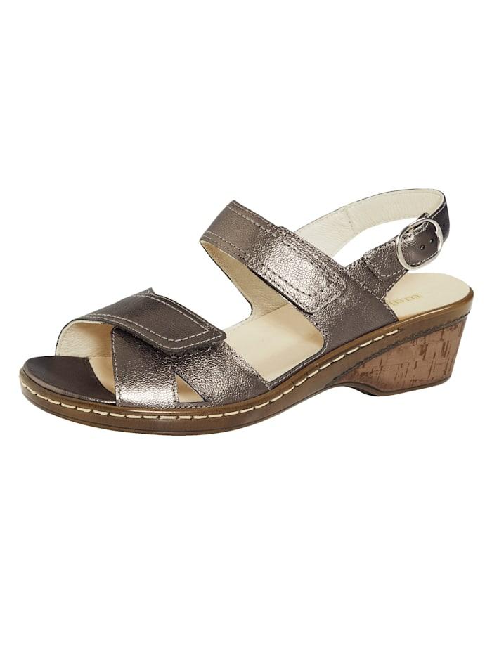 Waldläufer Sandále s nastaviteľným suchým zipsom, Bronzová