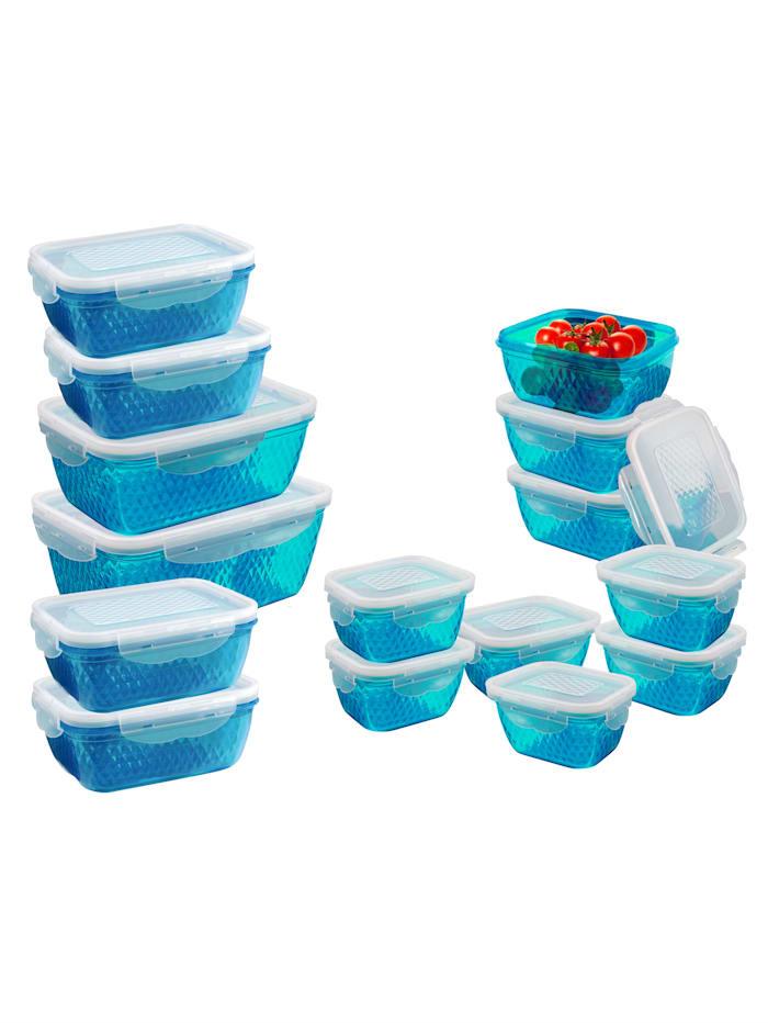 Set van 15 vershouddozen, blauw