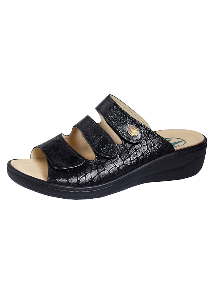 Franken Schuhe Muiltje, Zwart