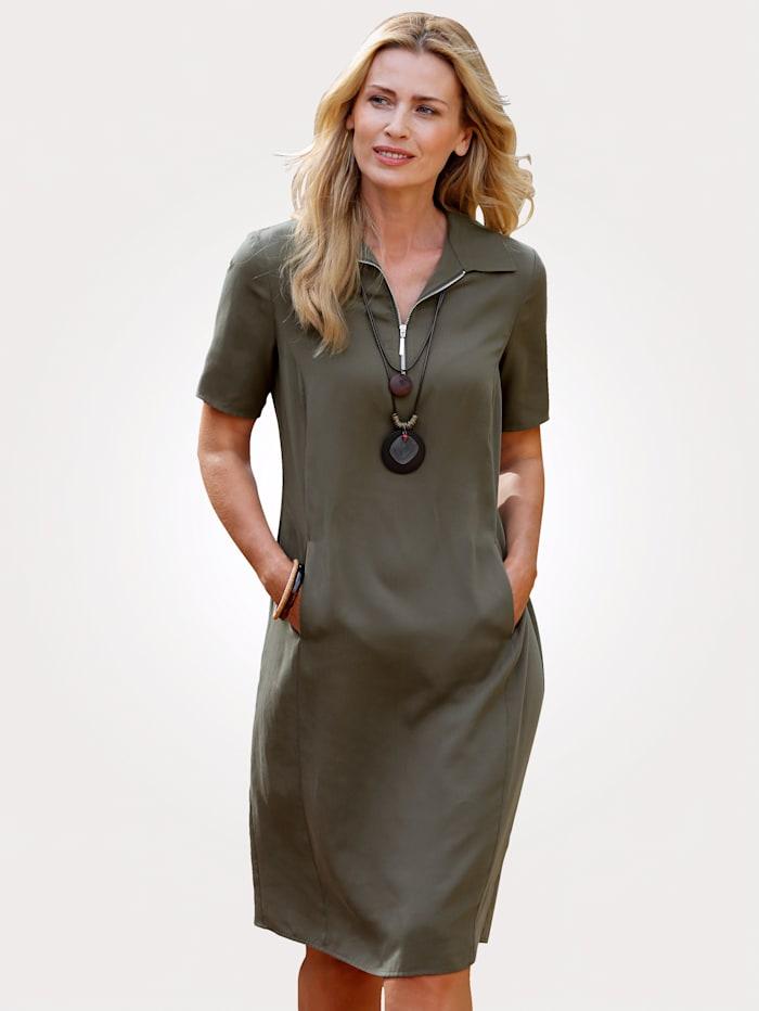 MONA Kleid aus feiner Lyocell-Qualität, Oliv