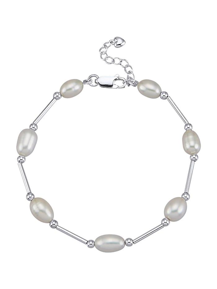 AMY VERMONT Armband mit Süßwasser-Zuchtperlen, Weiß