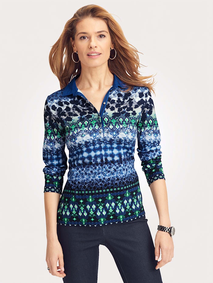 Polo shirt with a graphic pattern