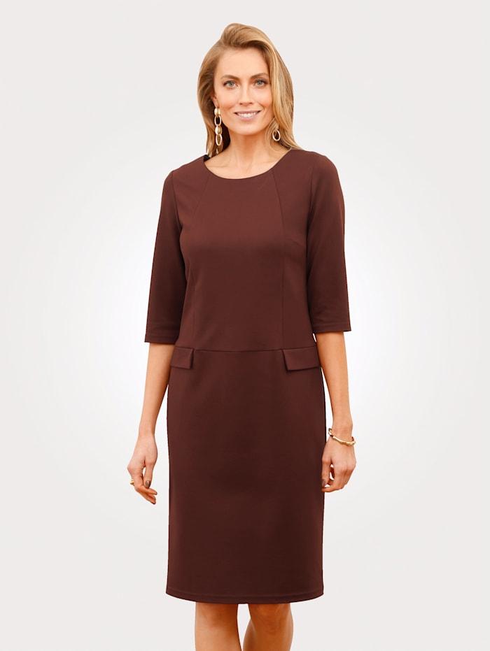 MONA Kleid aus Heavy Jersey, Braun