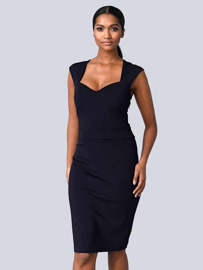 Alba Moda Kleid in femininer Silhouette, Marineblau