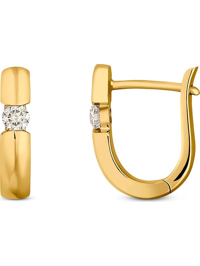 CHRIST Diamonds Damen-Creolen 2 Diamant