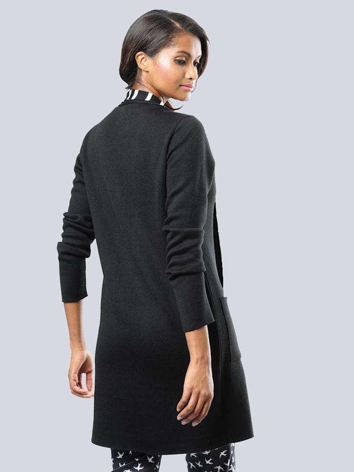 Vest met gestreepte binnenkant