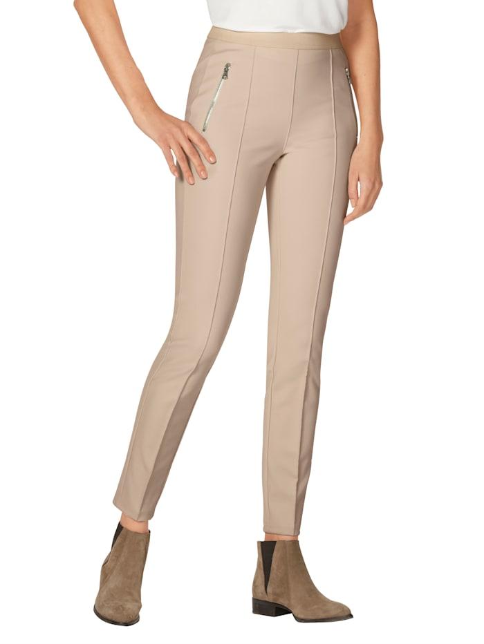 AMY VERMONT Hose mit Reißverschlusstaschen, Creme-Weiß