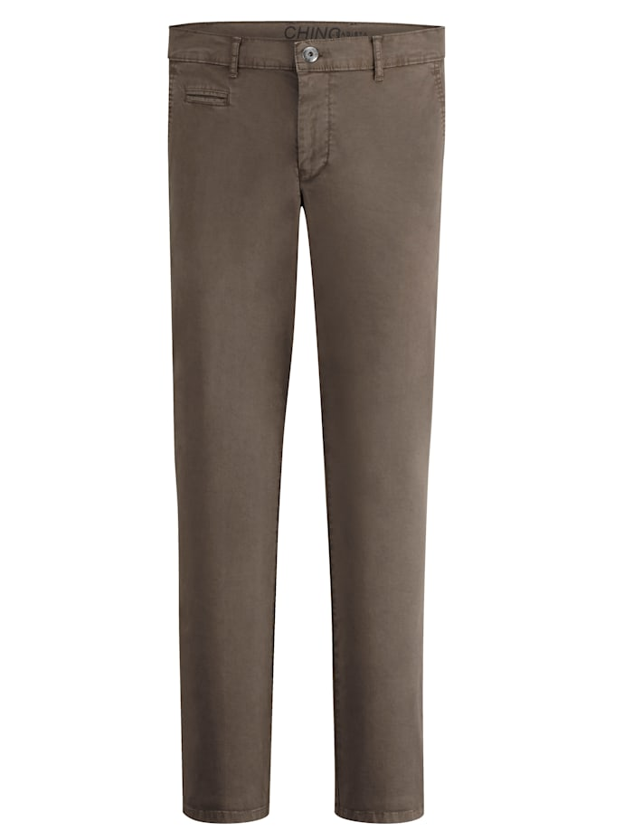 BABISTA Pantalon chino en coton PIMA, Marron