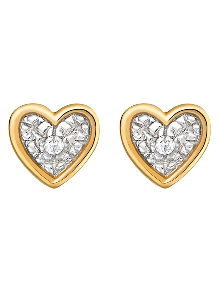 CHRIST Diamonds CHRIST Diamonds Damen-Ohrstecker 375er Gelbgold 2 Diamant, gold