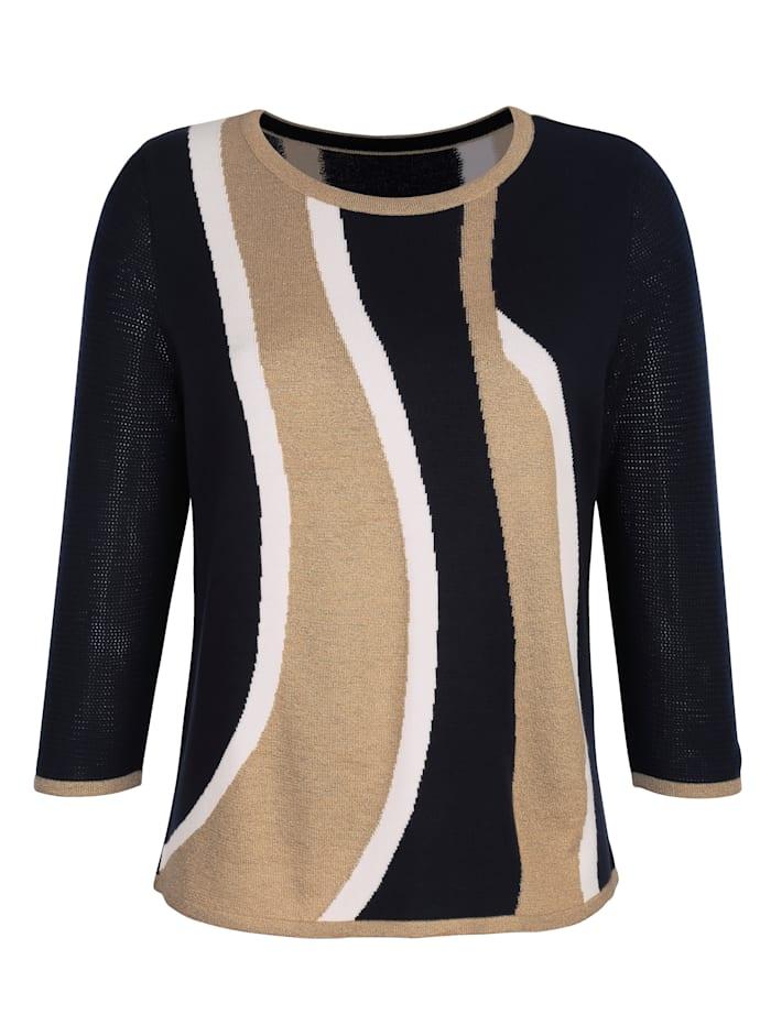 Pullover in Intarsienstrick