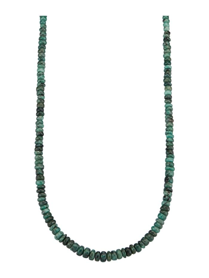 Diemer Farbstein Smaragd-Kette mit Samragden, Grün