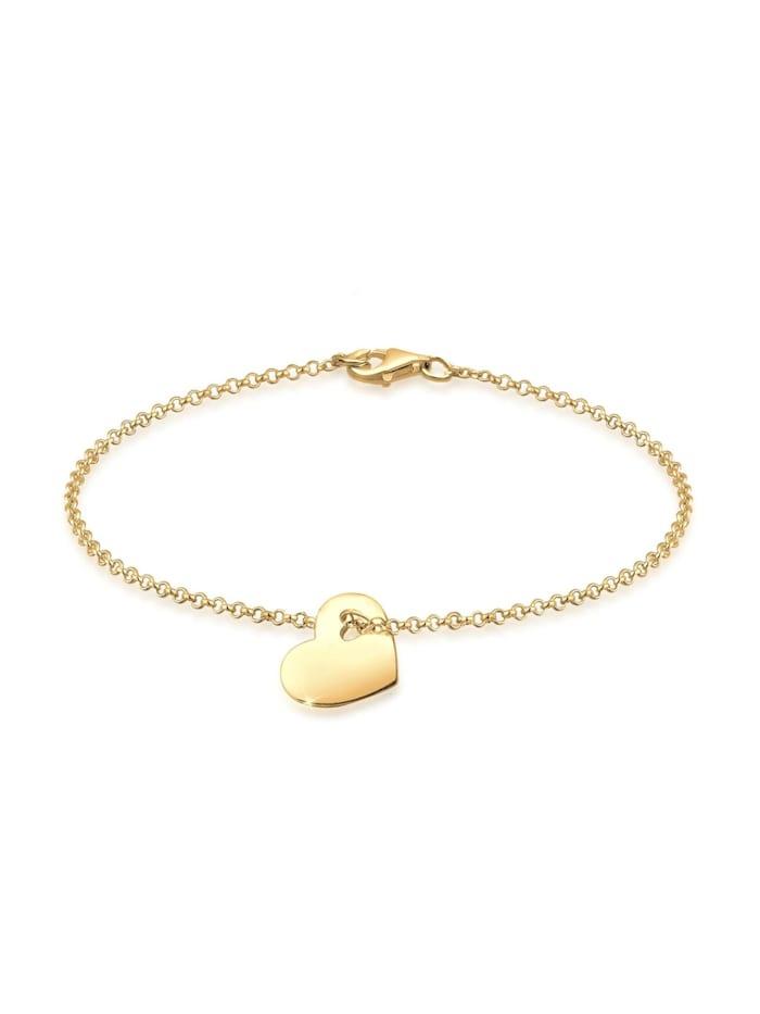Elli Armband Herz Symbol Cut-Out Design 925 Sterling Silber, Gold