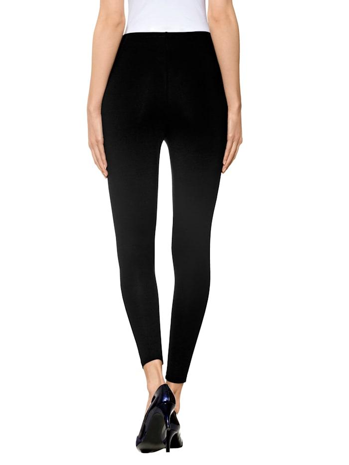 Alba Moda Legging met elastische band, Zwart