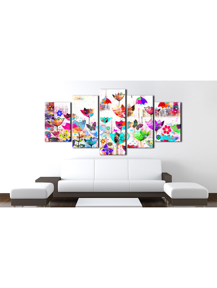 Wandbild Tulpen im Regen