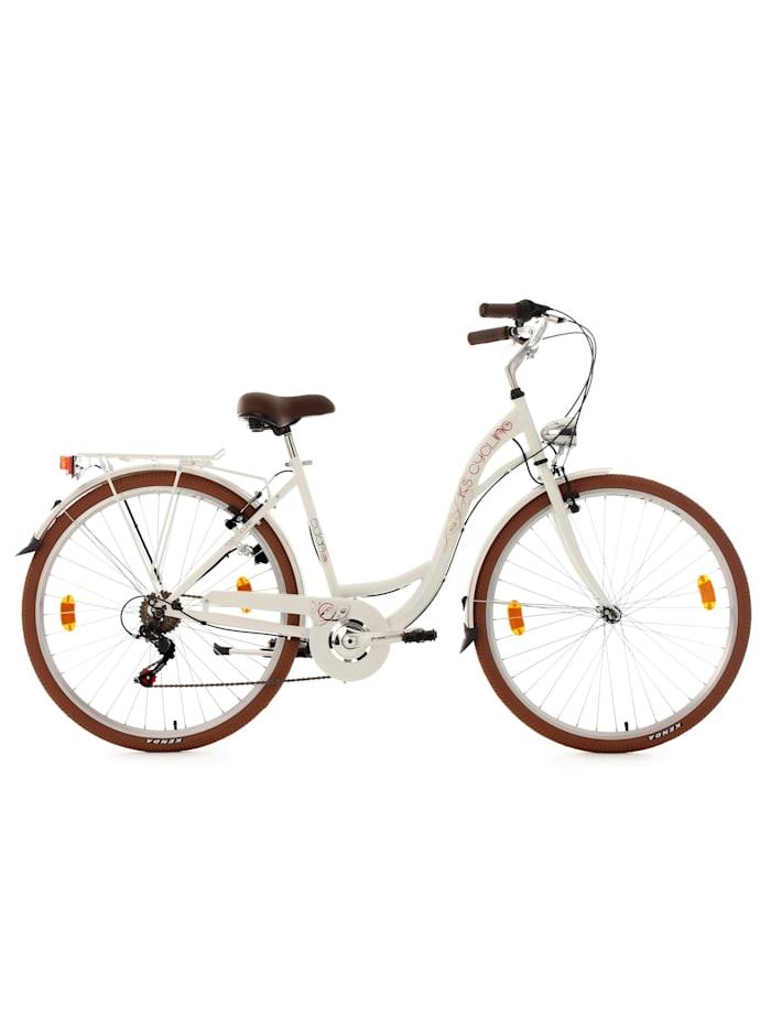 KS Cycling Cityfahrrad 6 Gänge Damenfahrrad Eden 28 Zoll, weiß
