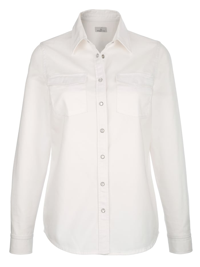 Džínsová košeľa s patentnými gombíkmi