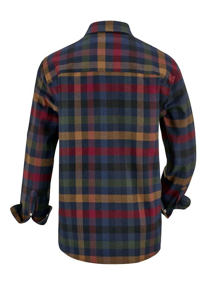 Overhemd in winterse kleuren