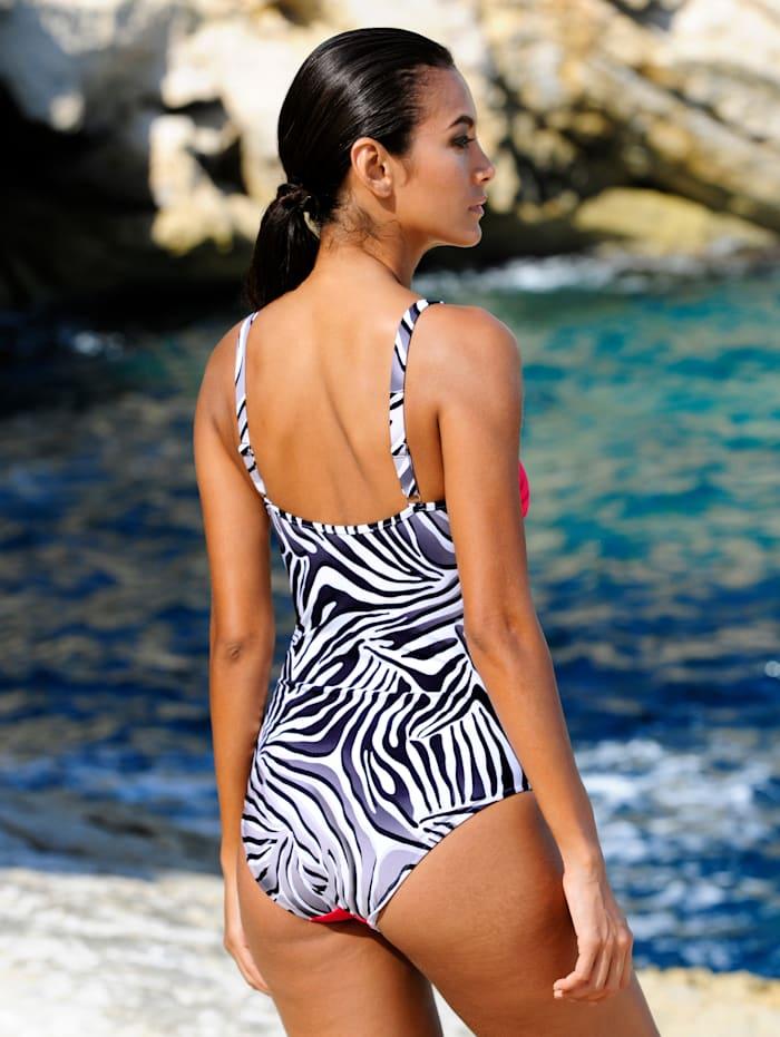 Badeanzug mit Zebradruck
