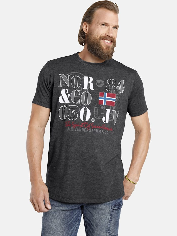 Jan Vanderstorm Jan Vanderstorm T-Shirt RAGAN, dunkelgrau