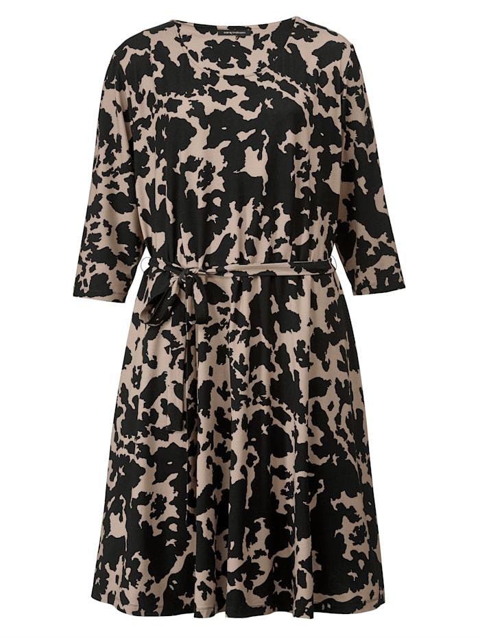 Jerseykleid mit grafischem Dessin