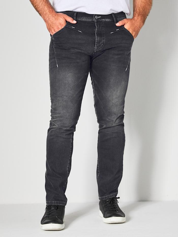 Men Plus Jeans Slim Fit, Black stone