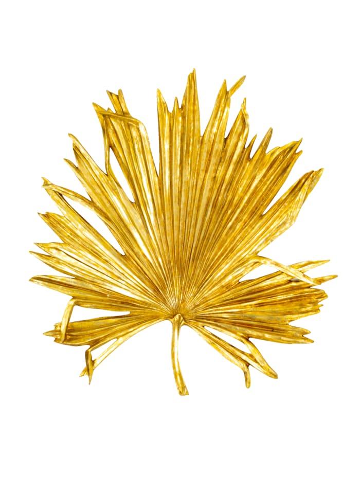 IMPRESSIONEN living Wand-Deko, Palmenblatt, goldfarben