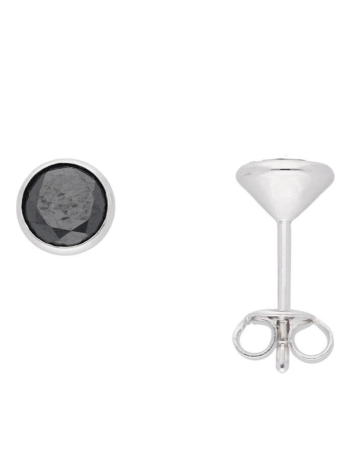 1001 Diamonds 1001 Diamonds Damen Silberschmuck 925 Silber Ohrringe / Ohrstecker mit Zirkonia Ø 6,6 mm, bunt