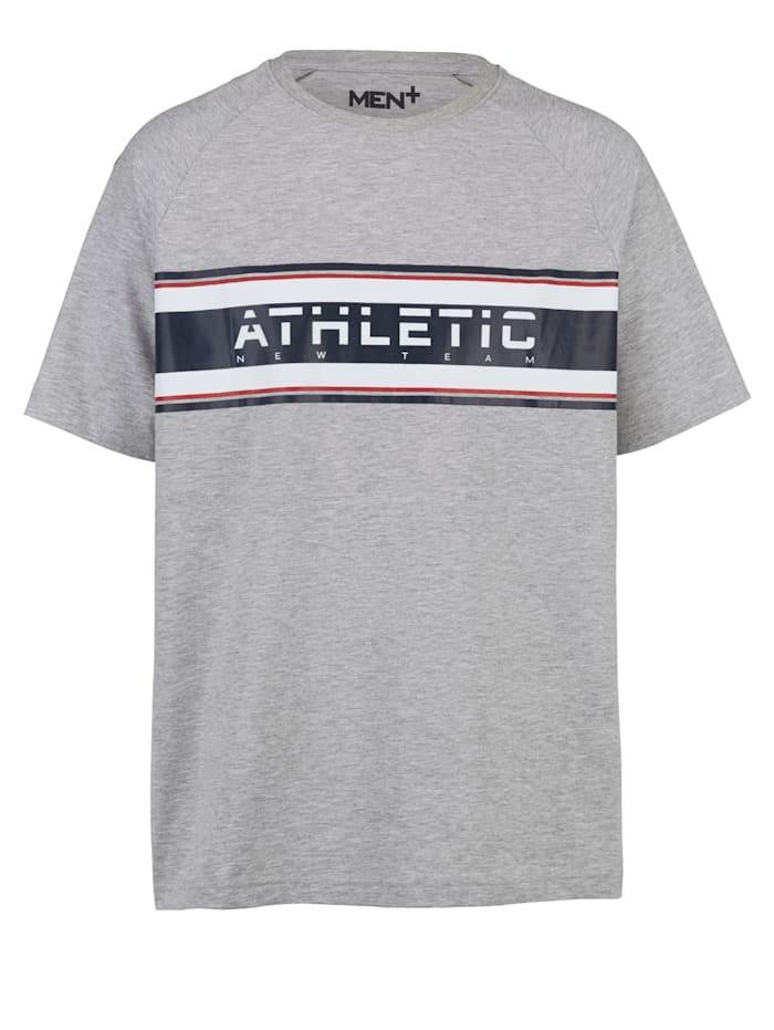 Men Plus Raglanhihainen T-paita, Vaaleanharmaa