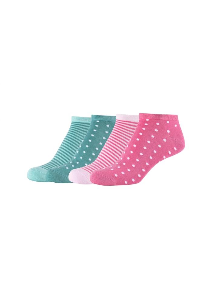 Camano Sneakersocken 4er-Pack mit weichem Komfortbund, chateau rose