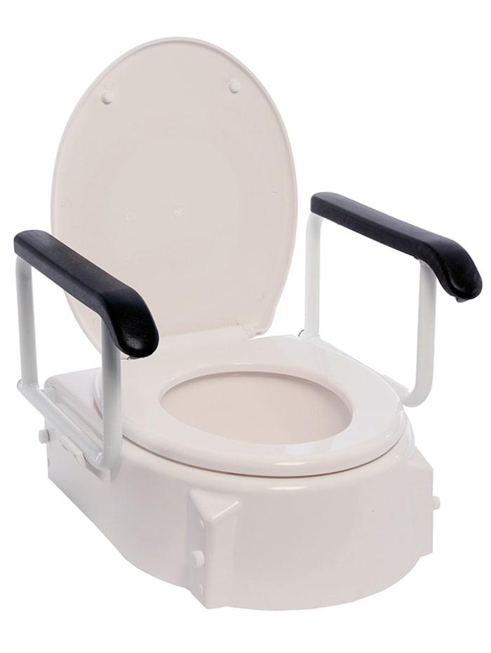 Rehaforum Toilettensitzerhöhung RFM® mit Armlehnen, Weiß