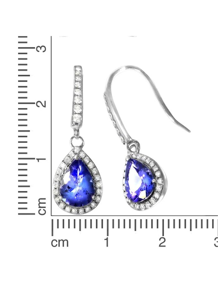 Ohrhänger 750/- Gold Tansanit blau Tansanit 2,7 Glänzend 1,96ct. 750/- Gold