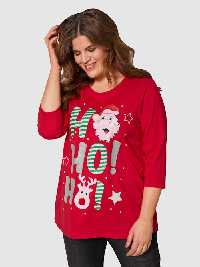 Janet & Joyce Shirt aus reiner Baumwolle, Rot