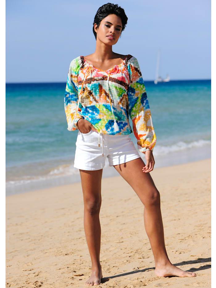 Strandtunika mit Zierquasten