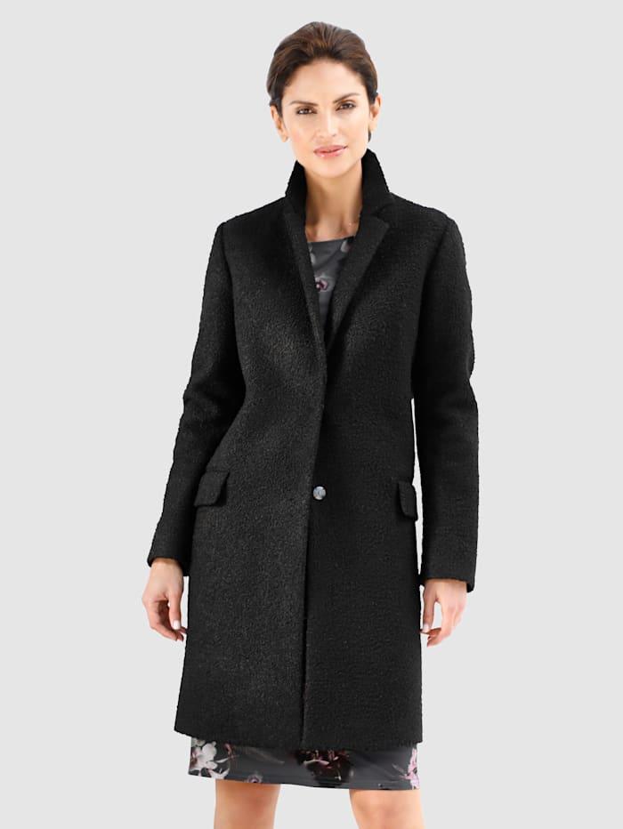 MONA Kabát z buklé kvality, Černá