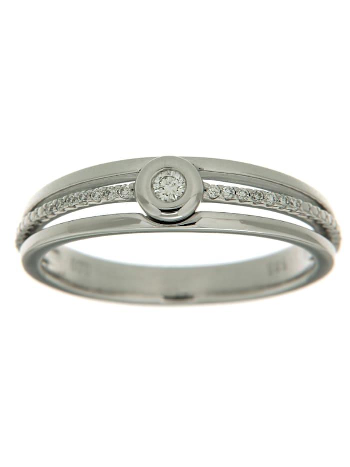 Orolino Ring 585/- Gold Brillant weiß Brillant Glänzend 0.0900 Karat 585/- Gold, Weiß