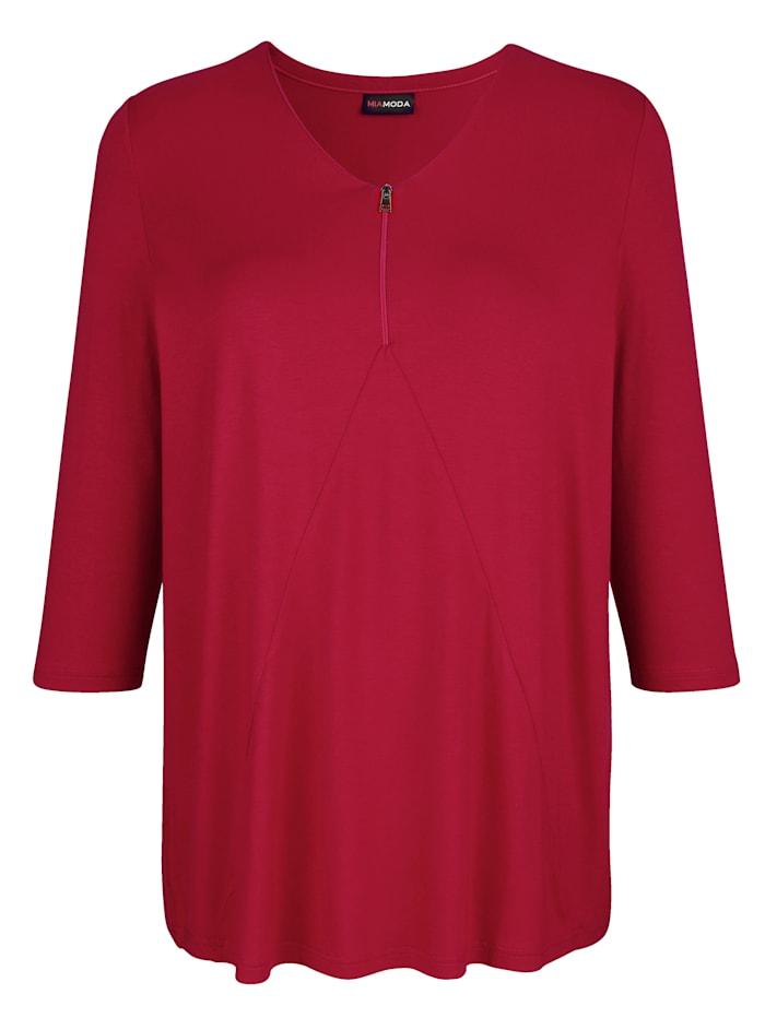 Shirt mit dezentem Reißverschluss am Ausschnitt