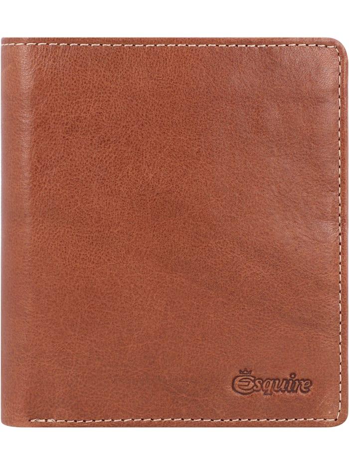Esquire Denver Geldbörse RFID Leder 10,5 cm, cognac