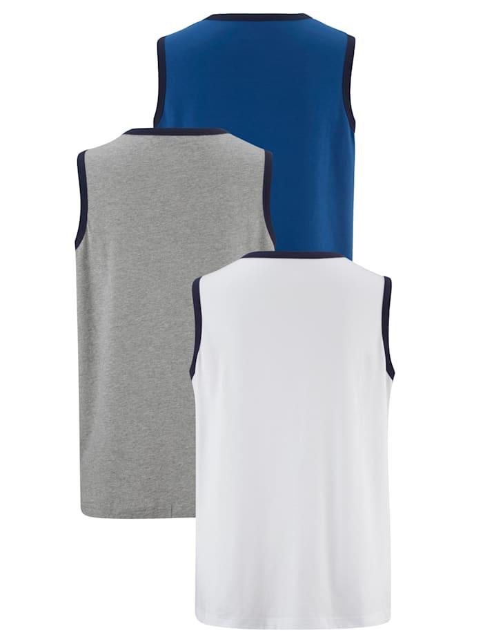 Mouwloos shirt per 3 stuks
