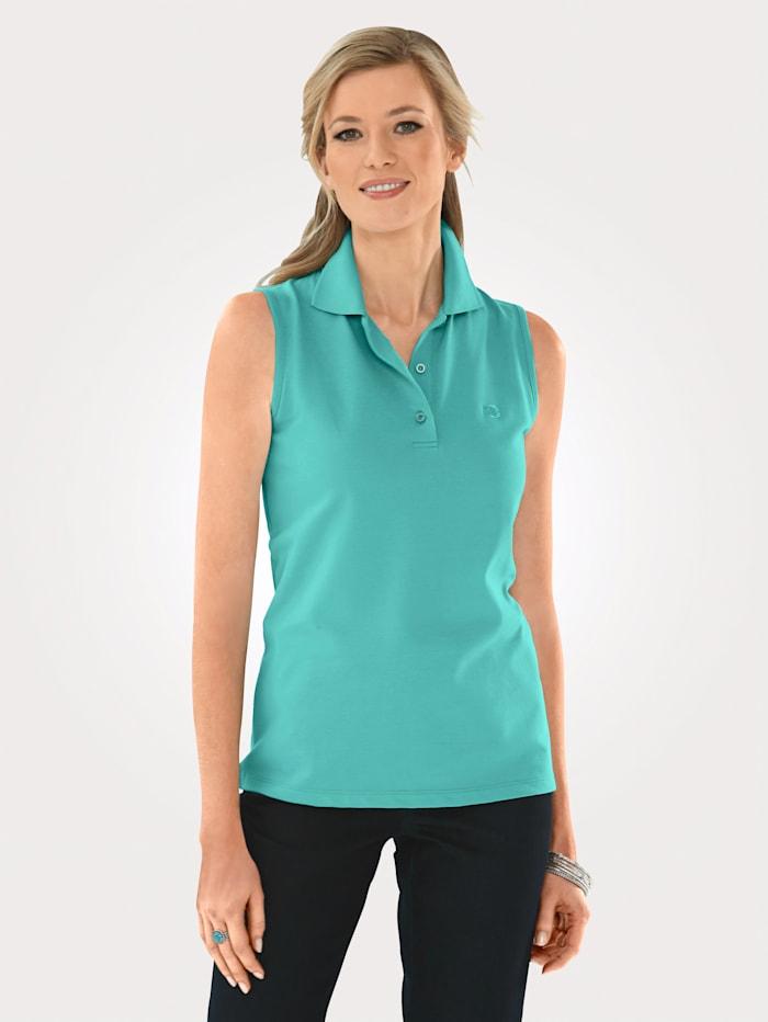 MONA Polo shirt with elegantrhinestone embellishment, Mint