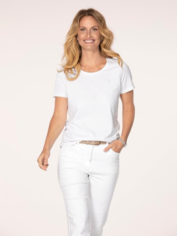 MONA Shirt aus Cotton made in Africa, Weiß