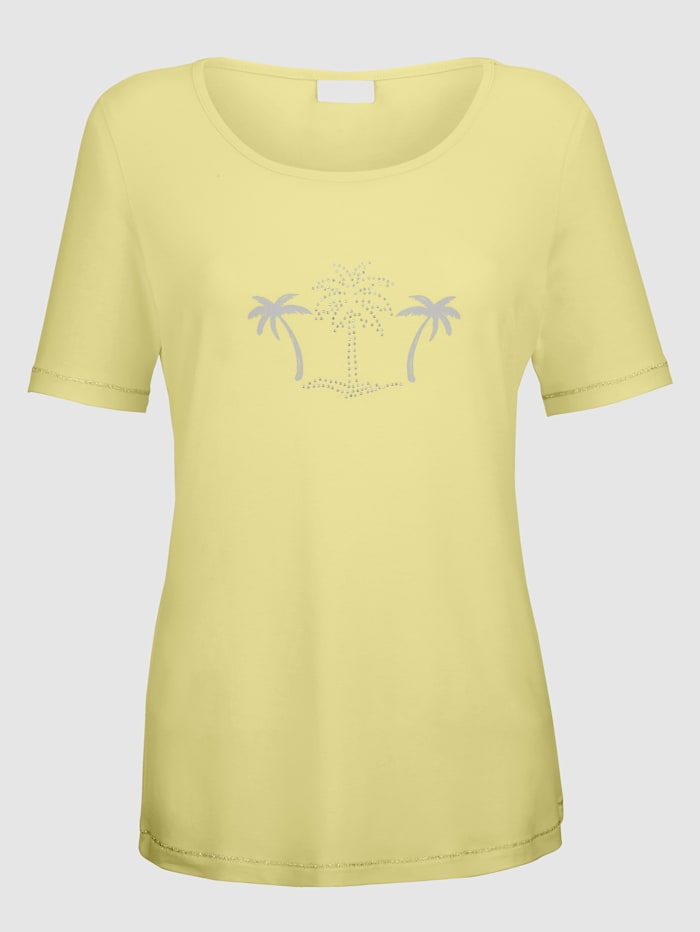 Top with palm tree print