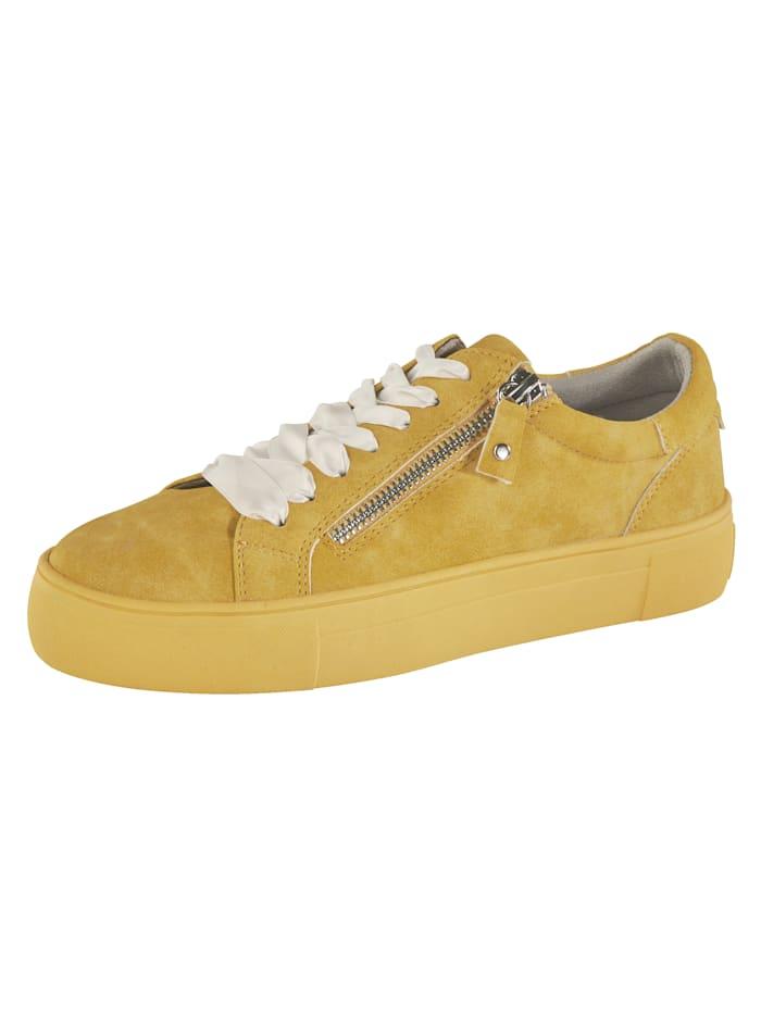 Liva Loop Sneakers à plateau à glissière côté, Jaune