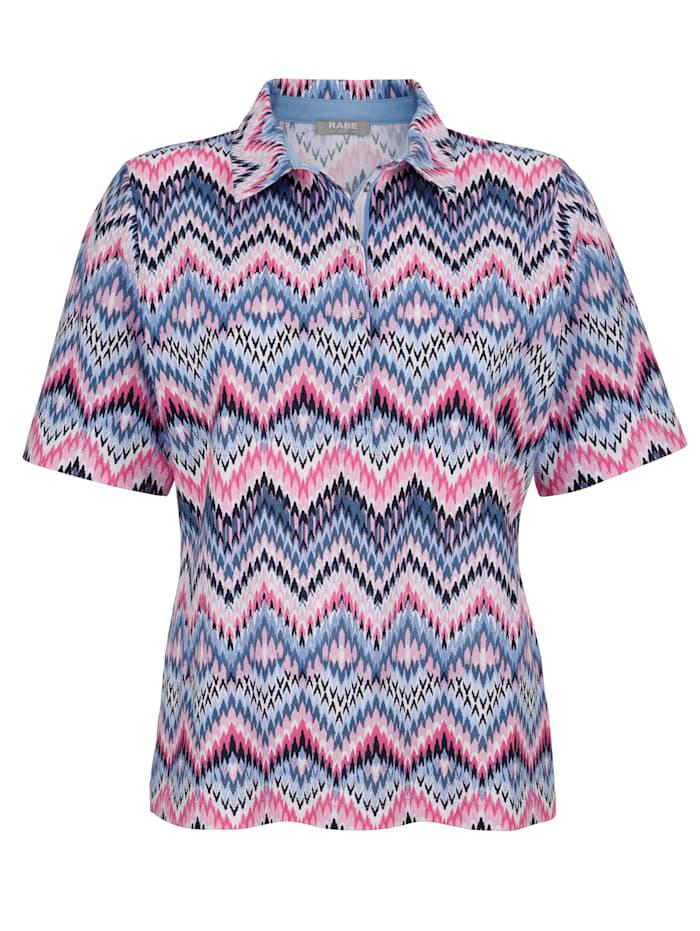 Poloshirt met zigzagdessin