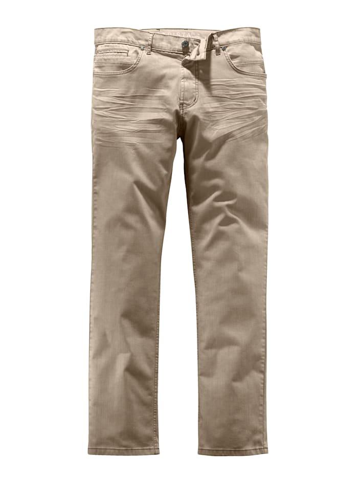 BABISTA Jeans met modieus crinkle effect, Beige